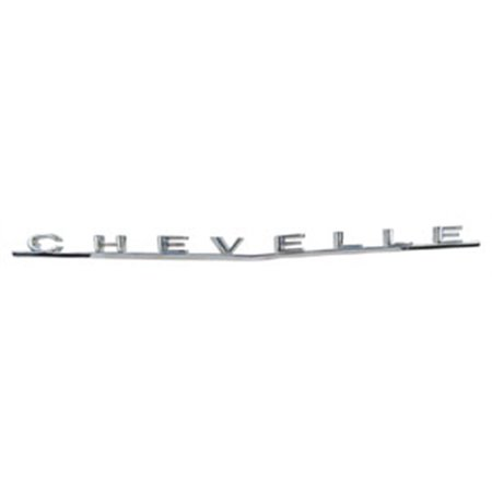 Chevelle Malibu Trunk (Trim Parts 4314 Reproduction Trunk Emblem for 1966 Chevelle)
