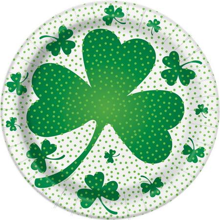 9   Lucky Shamrock St  Patricks Day Party Plates  8Ct
