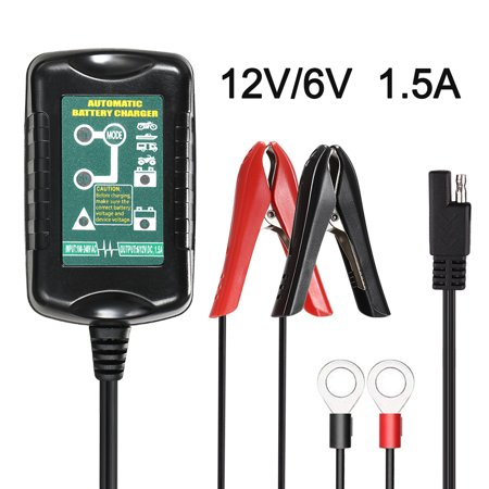 KKmoon 12V/6V Vehicle Battery Charger Maintainer Best Charging for RV Motorcycle Automatic Marine AGM GEL