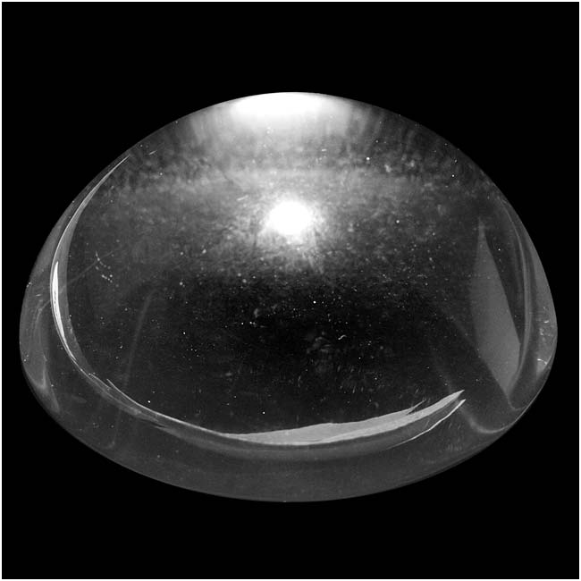Clear Glass Cabochon Round High Dome Crystal Magnify Bead 50mm (1)