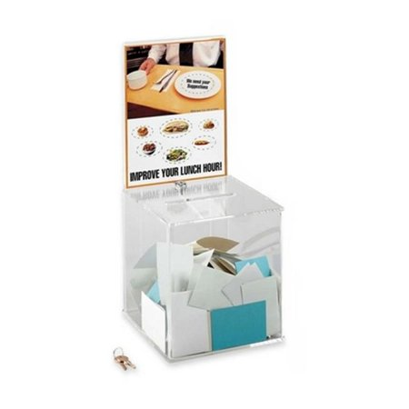Large Acrylic Collection Box With Lock