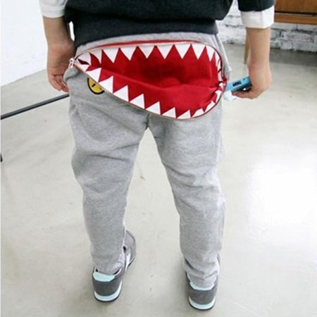 Kacakid Newest Kids Boys Girls Zipper Design Pants Casual Harem Pants Toddler Loose Trousers - Aladdin Harem Girls