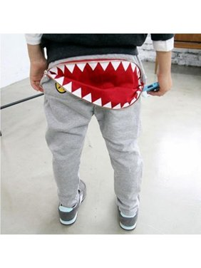 Kacakid Newest Kids Boys Girls Zipper Design Pants Casual Harem Pants Toddler Loose Trousers