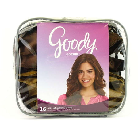 16 Piece Set of Satin Pillowsoft Rollers, Create Curl, Body or Volume While You Sleep By Goody Ship from (Roller Set Curls)