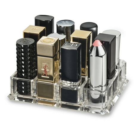 Acrylic Base - byalegory acrylic lipstick makeup organizer designed for larger base lipsticks | 12 spaces