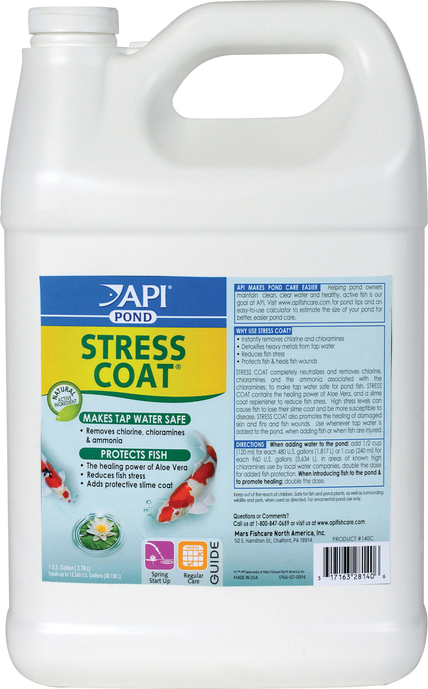 Api Pondcare Stress Coat Pond Water Conditioner 1-Gallon (Pack of 1) by Mars Fishcare North America