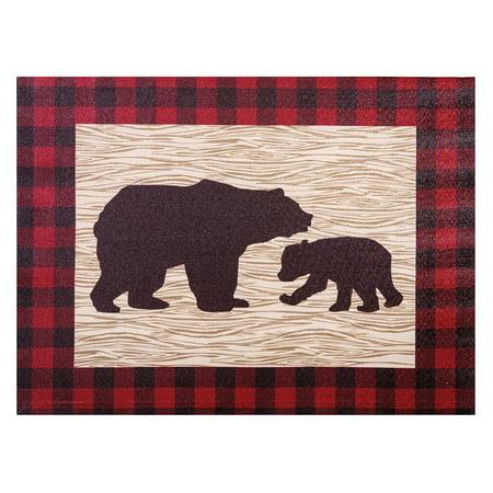 (Northwoods Bear Canvas Wall Art)