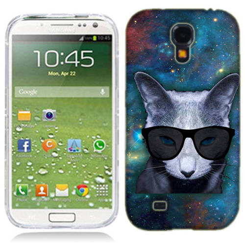 Mundaze Galaxy Cat Phone Case Cover for Samsung Galaxy S4