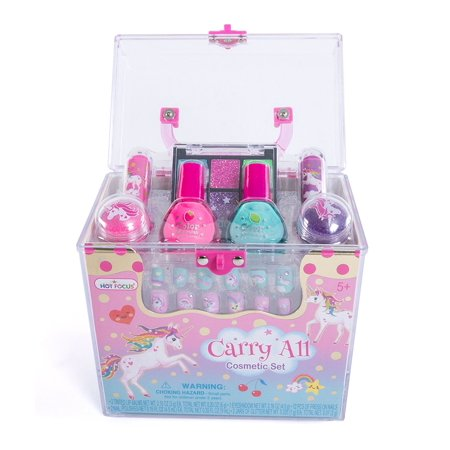 Hot Focus Carry All Cosmetic Set - 20 Piece Unicorn Theme Makeup Set for Girls (HFC-050UC)