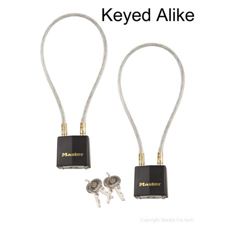 Master Lock - 99KA-2 - (2) Keyed Alike Gun Cable Locks to Secure Firearms