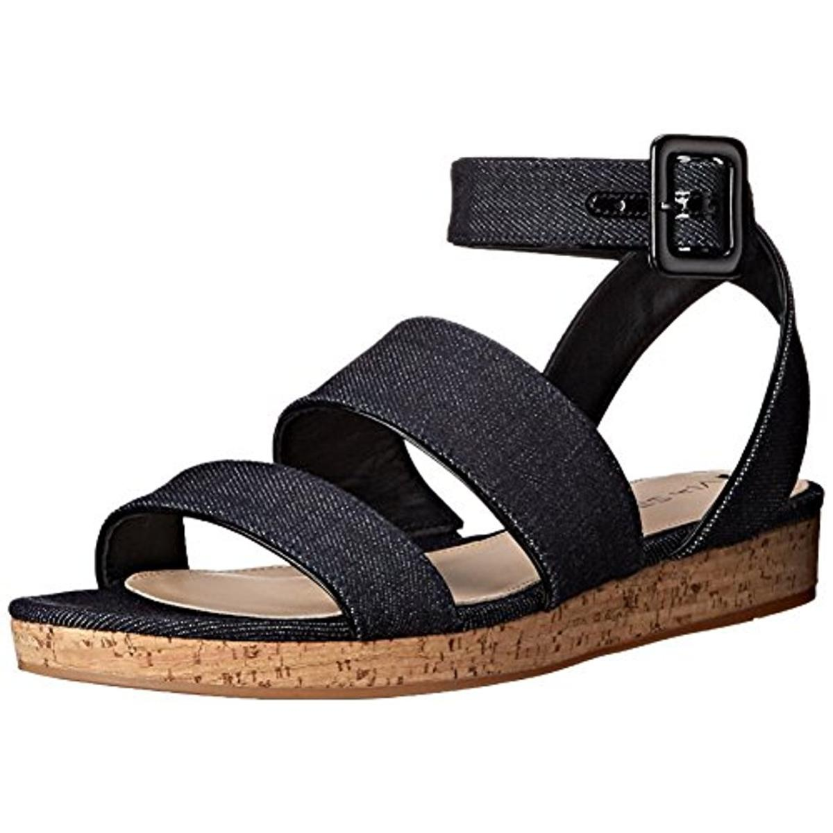 Via Spiga Womens Dianne Canvas Ankle strap Gladiator Sandals