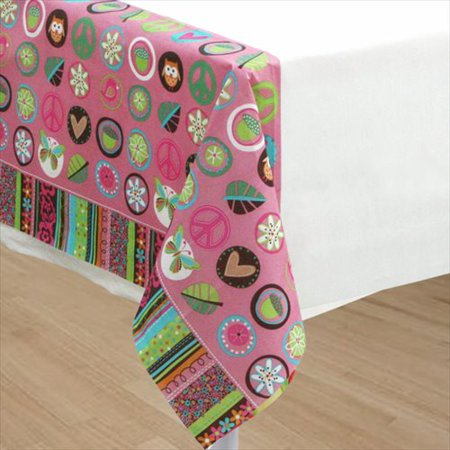 Hippie Chick Paper Table Cover (1ct)