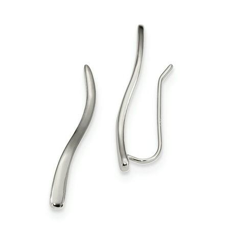 - 925 Sterling Silver Ear Climber Earrings Drop Dangle For Women