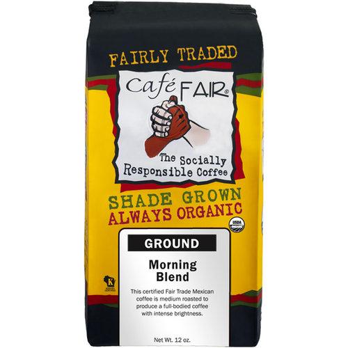 Cafe Fair Morning Blend Ground Coffee, 12 oz