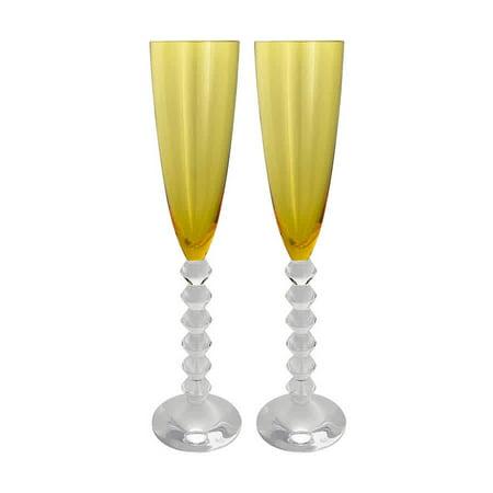 Baccarat Vega Flutissimo Topaz Flute Champagne Glass 2811803 - Set of 2 ()