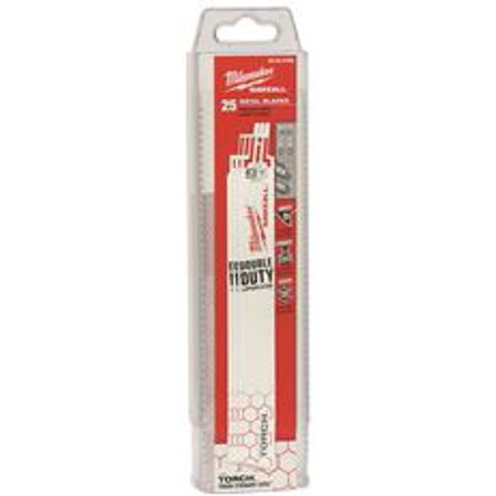 Milwaukee The Torch Sawzall Blade, 9 In., 18 Tpi, 25 Per Pack