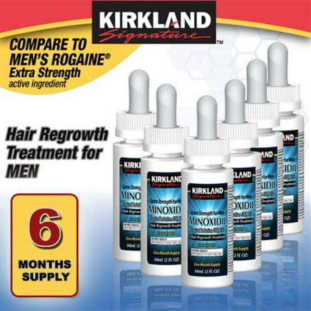 6 MONTHS KIRKLAND DROPS GENERIC MINOXIDIL 5% MENS HAIR LOSS REGROWTH TREATMENT Mens Hair Regrowth Treatment