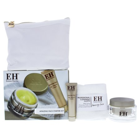 Starter Kit by Emma Hardie for Women - 4 Pc 1.7 oz Moringa Cleansing Balm, 0.5 oz Age Support Treatment Cream, Dual Action Cleansing Cloth and Travel Bag (Emma Cleansing Balm)