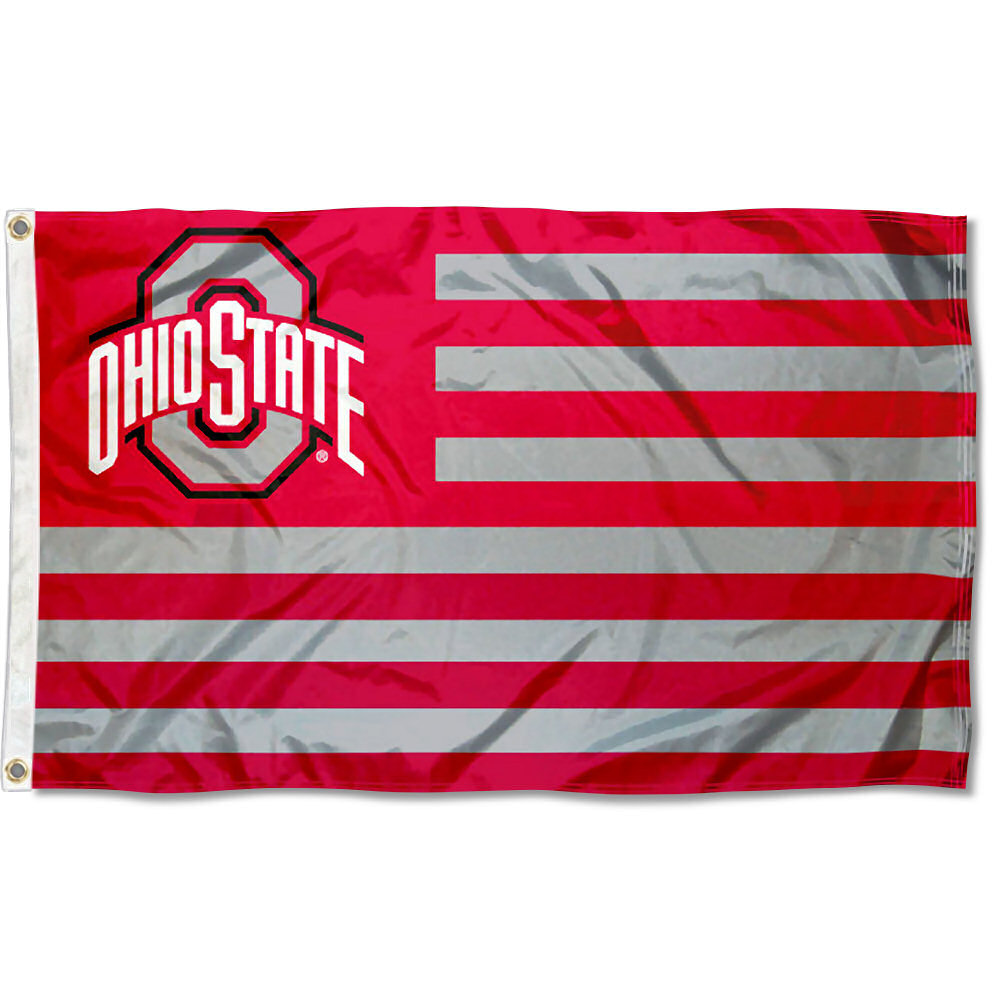 Ohio State Buckeyes American Flag Design 3' x 5' Flag