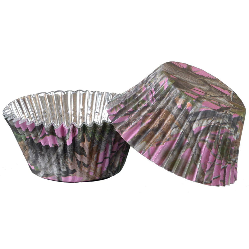 Pink Camo Foil Cupcake Cups (36 Pack) - Party Supplies