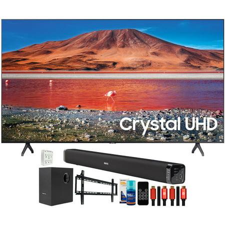 "Samsung UN65TU7000 65"" 4K Ultra HD LED TV (2020) with Deco Gear Home Theater Bundle"