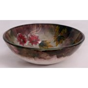 16.5 in. Vessel Sink in Multicolor with Mounting Ring