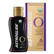 3 Pack Astroglide O - Organic Personal Lubricant & Massage Oil, 4 Ounces each