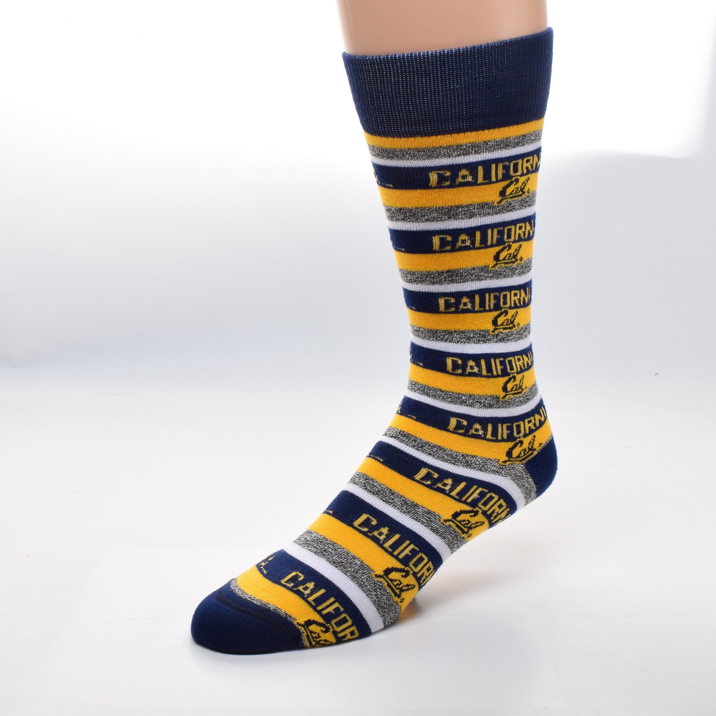 UC Berkeley Cal Multi Stripe Tweed Socks