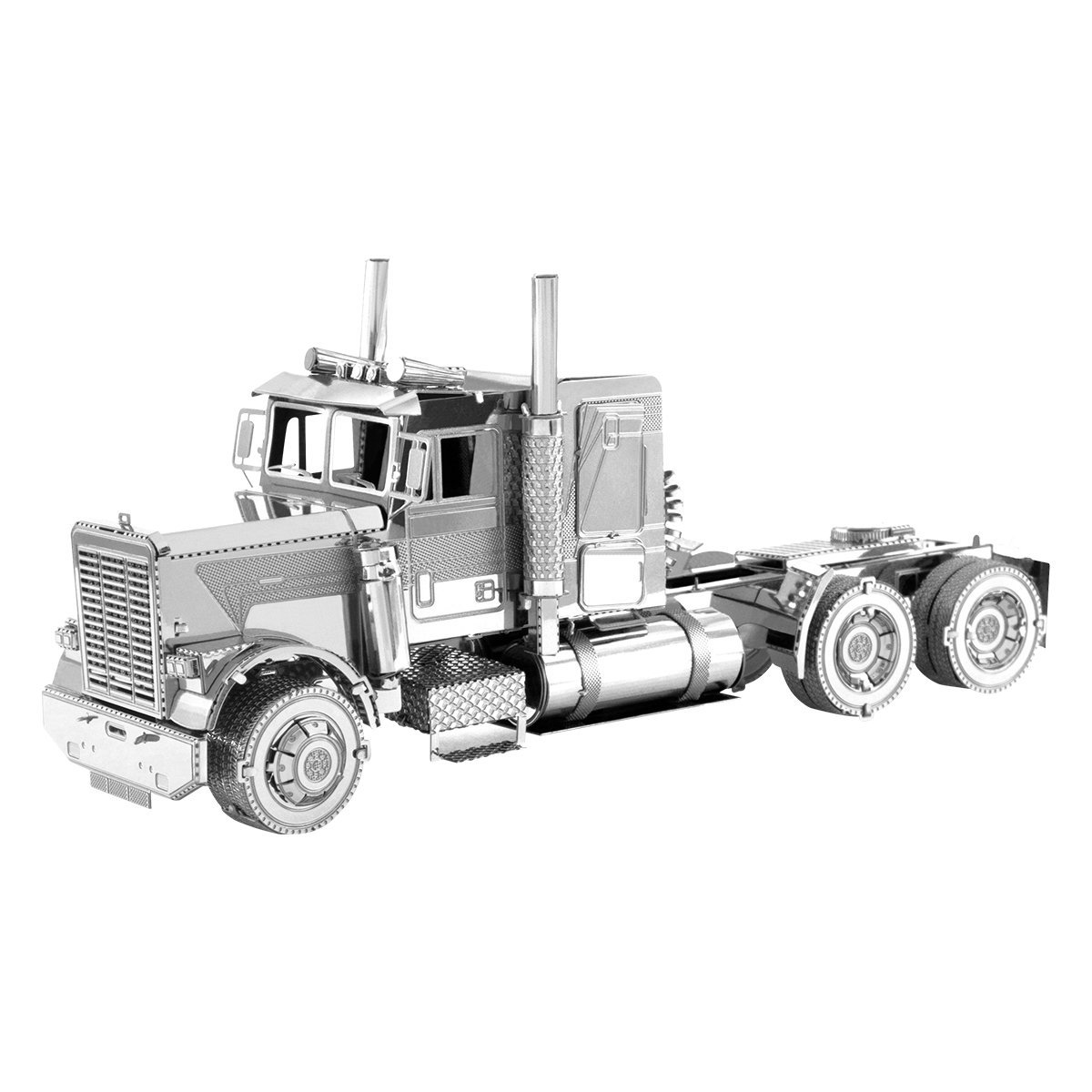 Fascinations Metal Earth Freightliner Long Nose Truck 3D Metal Model Kit
