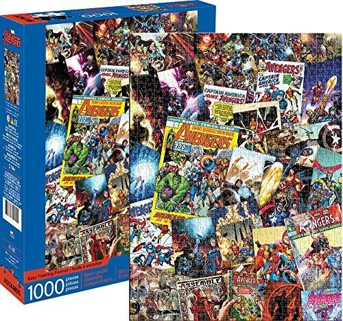 Marvel Avengers Comic Book Cover /& Spider-Man Comic Cover Jigsaw Puzzle Bundle 500 Piece