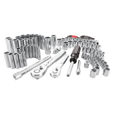 Craftsman 1/4 and 3/8 in. drive 6 Point Socket Set 105 pc. - Case Of: 1; Each Pack Qty: 105; Total Items Qty: 105