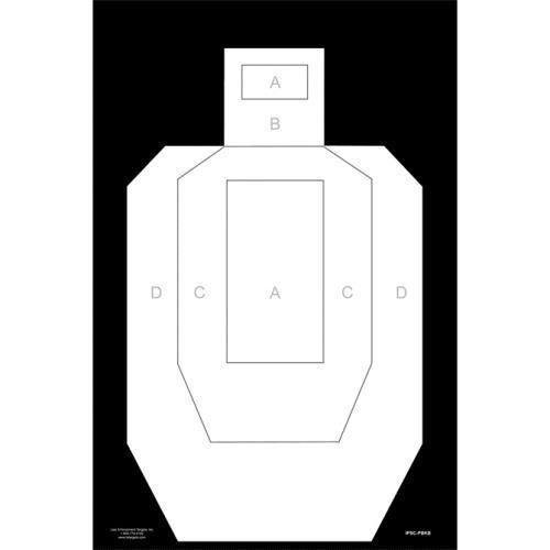 High Visibility IPSC USPSA Paper Target Pack of 10 by