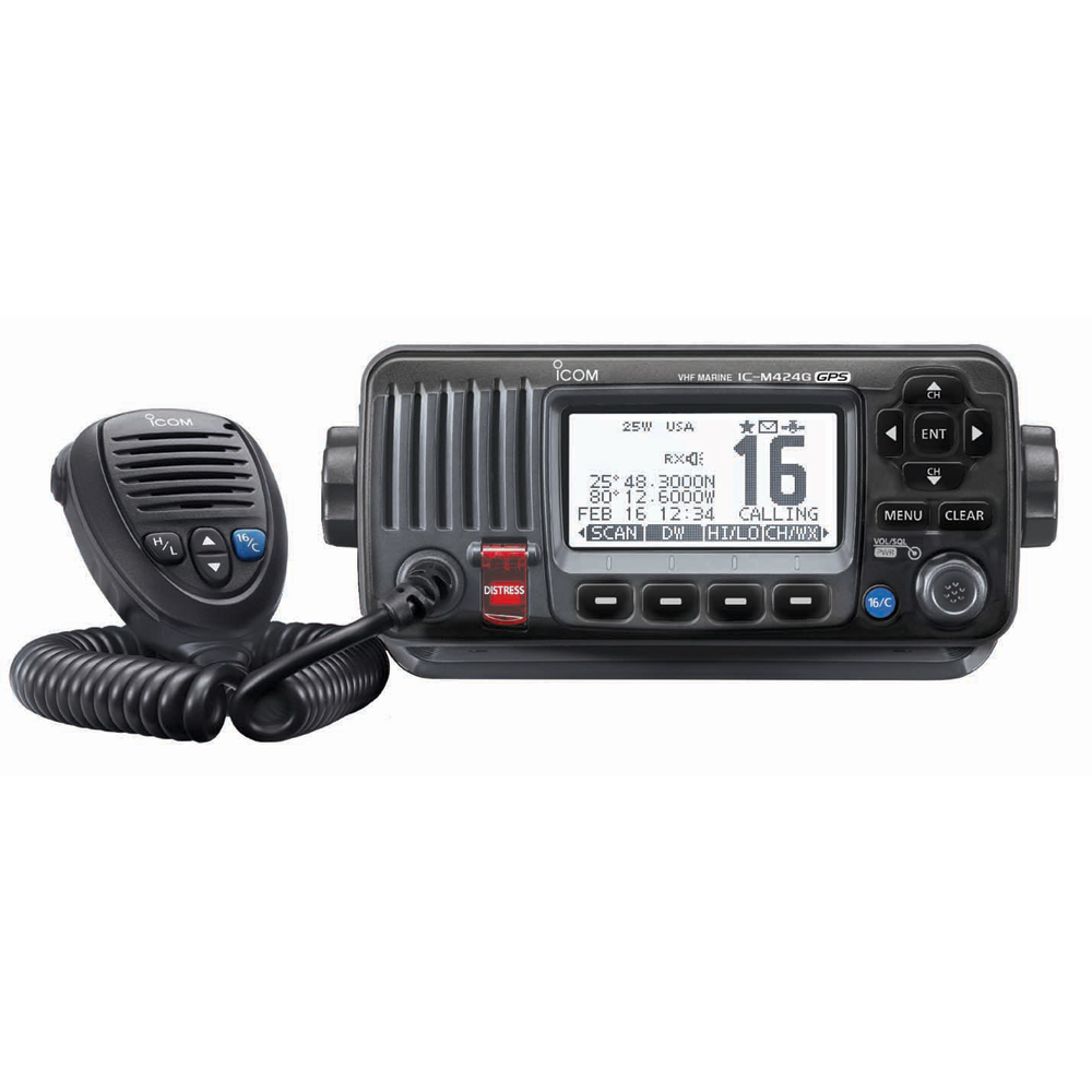 ICOM M424G VHF RADIO BLACK WITH INT GPS by Icom
