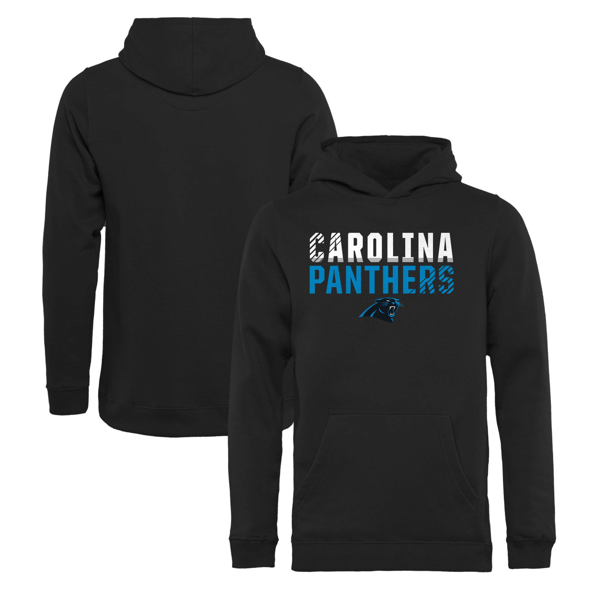 Carolina Panthers NFL Pro Line by Fanatics Branded Youth Iconic Collection Fade Out Pullover Hoodie - Black