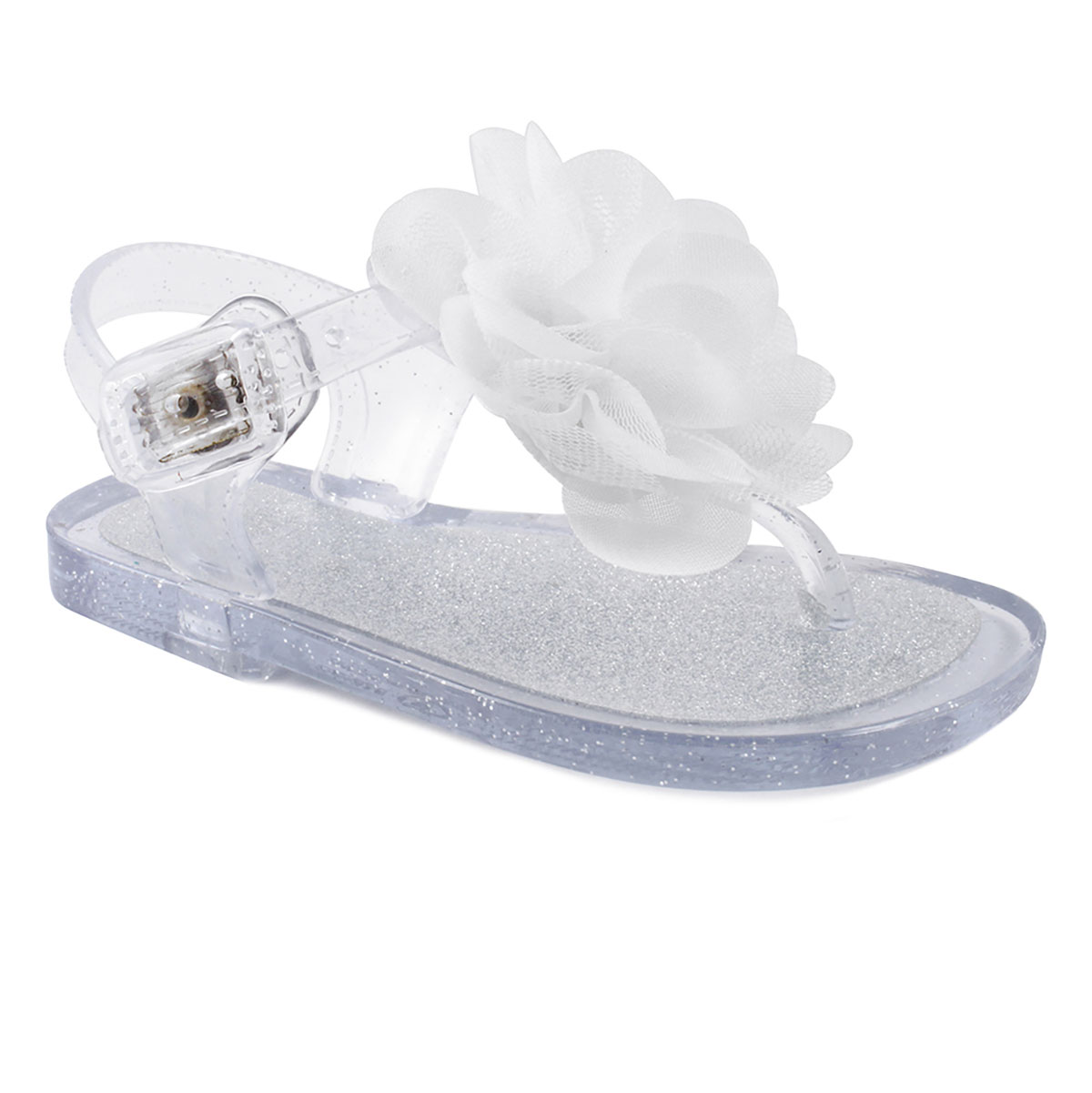Baby Girls Glitter Jelly Sandals Fish Detail  12-18 months