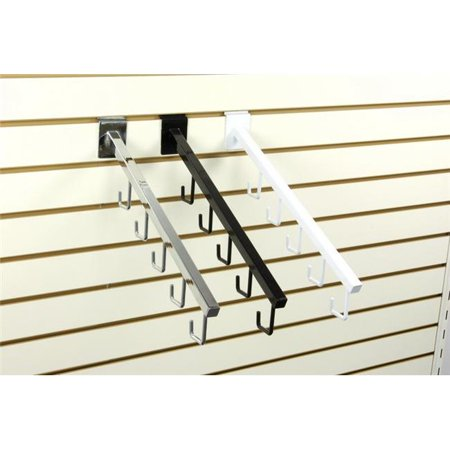 SPW-5H 5-Hook Square Waterfall for Slatwall, White