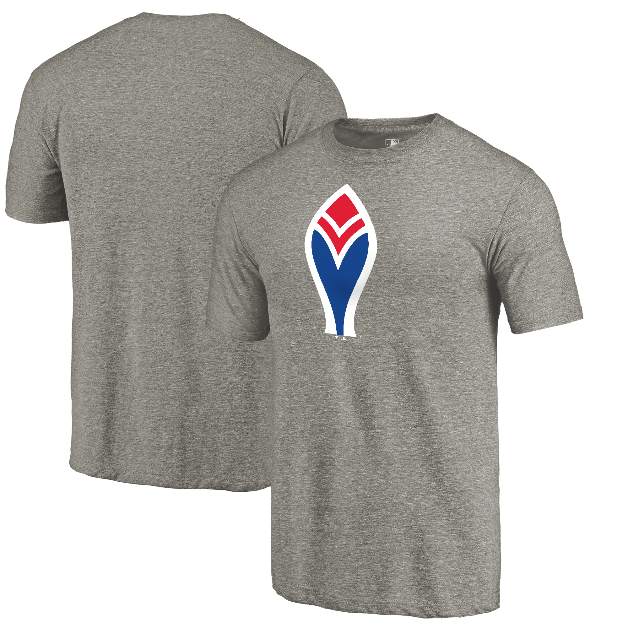 Atlanta Braves Fanatics Branded Cooperstown Collection Forbes Tri-Blend T-Shirt - Ash