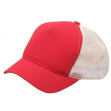 abed8618f Short Bill Trucker Cap-Red White