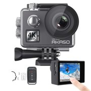 AKASO V50 Elite 4K60fps WiFi Action Camera with Voice Control EIS Touch Screen Waterproof Sport Camera with 8X Zoom Adjustable View Angle