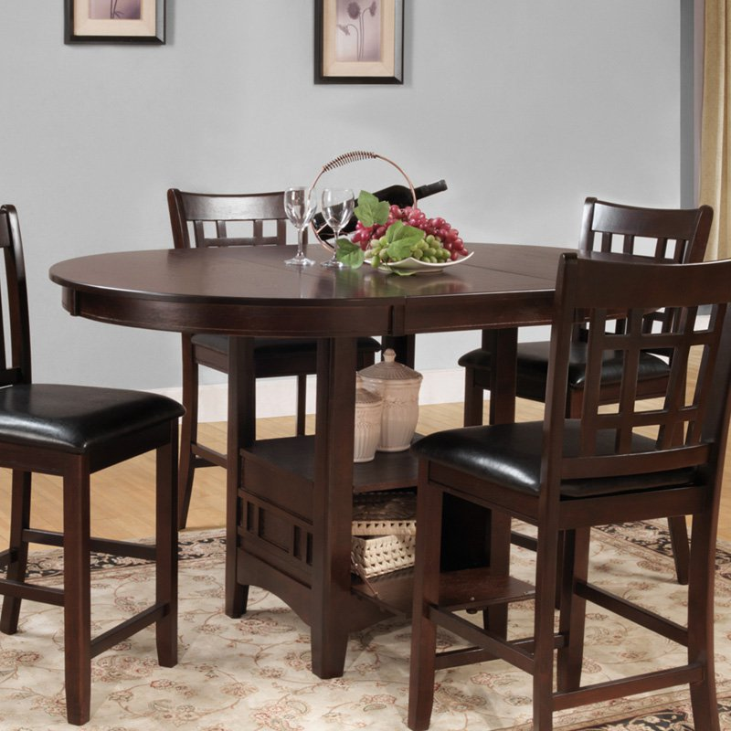 Weston Home Junipero Counter Height Dining Table - Dark Cherry