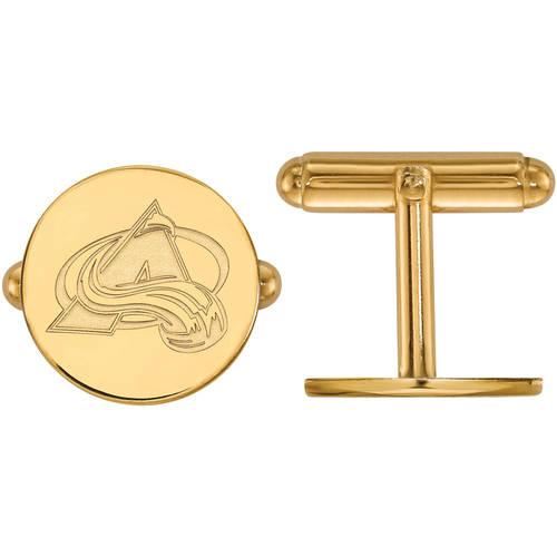 NHL Colorado Avalanche 14kt Gold-Plated Sterling Silver Cuff Links