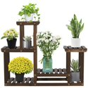 Easyfashion 4 Tier Wood Plant Flower Display Stand