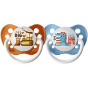Ulubulu Dig You And Dinomite Pacifiers - 6-18 Months