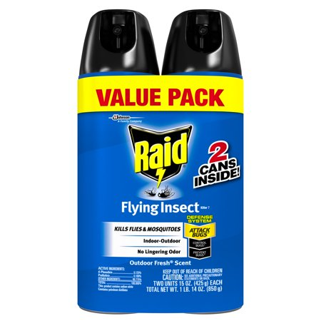- Raid Flying Insect Killer 7, 15 oz (2 ct)