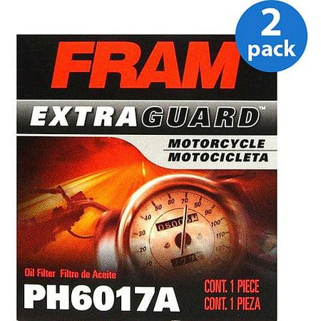 Fram Motorcycle Oil Filter, PH6017A (2-Pack)