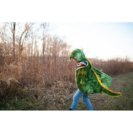 T-Rex Hooded Cape - Green - Dress-Up by Great Pretenders (56705)