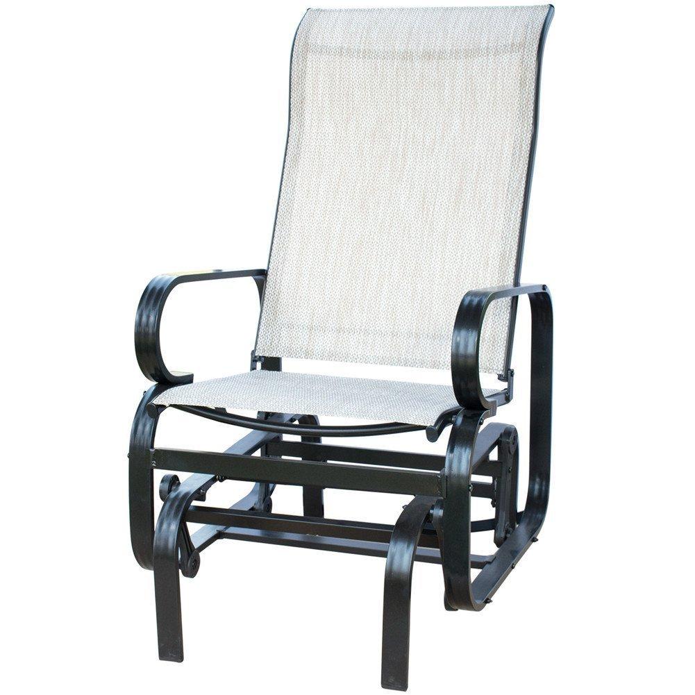 PatioPost Sling Glider Outdoor Patio Chair Textilene Mesh Fabric Tan  sc 1 st  Walmart & PatioPost Sling Glider Outdoor Patio Chair Textilene Mesh Fabric Tan ...