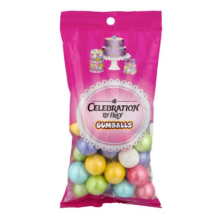 Celebration, Assorted Bubble Gum Gumballs, 8 Oz