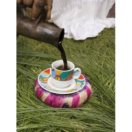 Pouring Coffee During a Coffee Ceremony, Ethiopia, Africa Print Wall Art By Gavin Hellier ()
