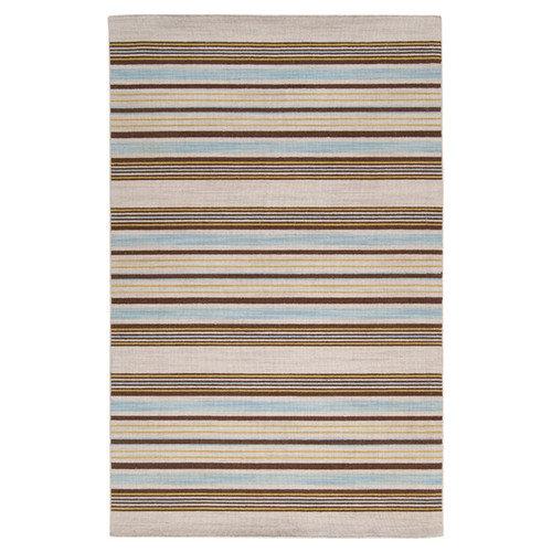 Surya Calvin Kelp Brown Striped Area Rug